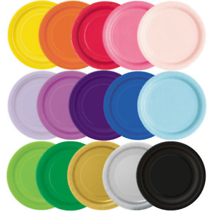 """7"""" (20pack) / 9"""" (16pack) Round Paper Plates Party Birthday Tableware Disposable"""
