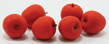 Miniature Dollhouse Set of 6 Red Apples 1:12 Scale New