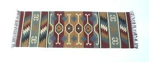 Floor Kilim Rugs Jute Area Rug Hand loomed jute Runner Indian Yoga Mat Rug 2x6-2