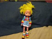 "Vintage 1983 8"" Rainbow Brite Doll Vinyl Hallmark Very Good Condition"