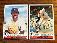 1979 Topps #8 Luis Tiant and #10 Rich usage - Yankees