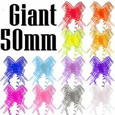 10x Multi Listing of Butterfly Pull Bows 12 - 50mm Pullbows Florist Craft Lilac 50mm Organza 10 Bows
