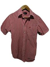Men's Small Fred Perry red And White Check Size Small Perfect Condition!
