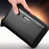 Stylish Men's Leather Business Clutch Bag Handbag Wallet Purse Mobile Phone Bag