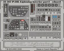 Eduard 1/32 P-38L interior for Trumpeter kit # 32567