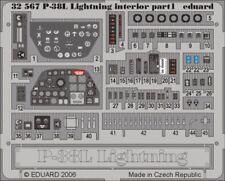 Eduard 1/32 P-38L intérieur pour Trumpeter kit # 32567