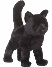 "Douglas Midnight Black Cat Plush Stuffed Animal Toy 12"" Child Cuddle Kitten New"