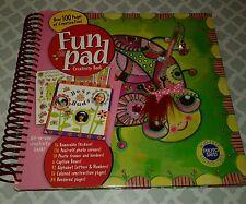 Scrapbook Kit FUN PAD Creativity Book GIRL Butterflies Beetles Crafts Stickers