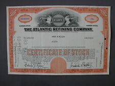 THE ATLANTIC REFINING COMPANY - STOCK CERTIFICATE - az Aktie acción share action