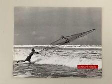 GOTTHARD SCHUH,'FISHING IN JAVA,1938' RARE AUTHENTIC 1990 ART PHOTO PRINT