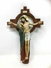 More details for crucifixion of christ crucifix hanging wall plaque cross jesus christ religious