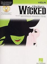 Hal Leonard Instrumental Play-along: Wicked (violín)