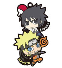 NARUTO Shippuden Naruto & Sasuke Candy Toy Rubber Mascot Key Chain Collection