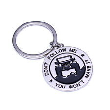 Keychain Keyring 4X4 Off Road Metal Key Ring Chain Fob Pendant Holder