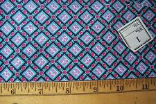 Vtg 40's Cotton Percale Dress Applique Quilt Fabric 36w  Tiny Red Berrie