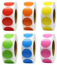 Coloured Dot Stickers Round Sticky Dots Adhesive Circles Labels 1 INCH