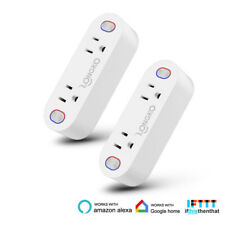 2Pack Mini Smart Plug WiFi Power Socket Charge Outlets Work with Alexa Echo Home