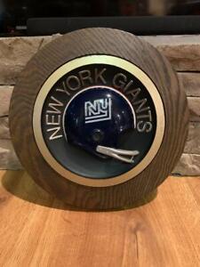 Vintage Sears 1975 NY New York Giants round helmet plaque - Disco helmet - rare