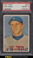 1957 Topps Tony Kubek ROOKIE RC #312 PSA 8 NM-MT (PWCC)