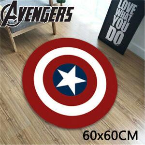 Superhero Floor Mat Captain America Home Non-Slip Pad Bedroom Rugs Carpet Decor