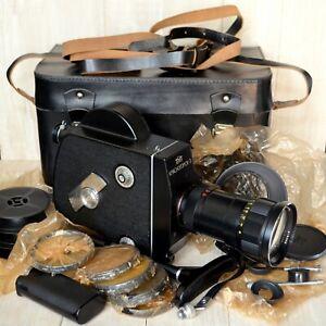 UNUSED FULL SET KRASNOGORSK-3 Super16 upgraded camera M42 METEOR-5-1 17-69mm