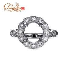 0.22ct Round Diamond 8mm Round Cut Semi Mount Engagement Ring vintage