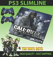 PLAYSTATION PS3 SLIM COD CALL OF DUTY GEISTER 002 SKIN & 2 POLSTER FOLIEN