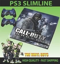 PLAYSTATION PS3 SLIM COD CALL OF DUTY GHOSTS 002 PEGATINA CARCASA & 2 PAD SKINS
