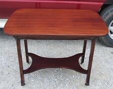 Solid Ribbon Mahogany Desk with Drawer  (DR8)