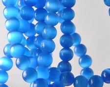 20PCS BLUE Round Cat's eye Gemstone Beads 6mm JK0259