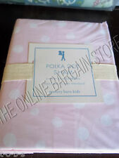 Pottery Barn Kids Polka Dot Bed Bedroom Pillow Sham Standard Light Pink