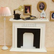 1/12 Scale Miniature White Fireplace Dollhouse Home Decor Furniture