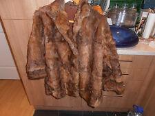 Vintage Beautiful  Ladies 1930s  Brown  Fur Jacket