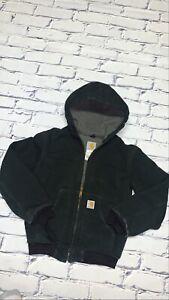 Kids Carhartt Midnight Black Barn Coat Full Zip Faded/Distressed Sz 10-12