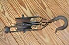 ANTIQUE IRON PULLEY BLOCK & TACKLE LARGE OVER 10 LBS