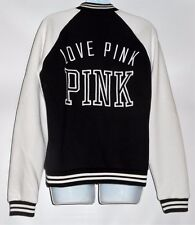Victoria's Secret Pink Love Pink Limited Edition Varsity Colorblock Jacket S NWT