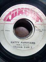 "Prince Far I-Natty Farmyard 7"" Vinyl Single 1975 ROOTS REGGAE"