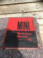 MINI Factory Workshop Manual BMC Service Manufacturers Red Black 1966
