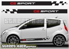 CITROEN C2 013 Side Racing Stripes Graphique Stickers Autocollants Vinyle Sport