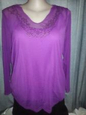 Autograph Viscose Long Sleeve Plus Size Tops & Blouses for Women