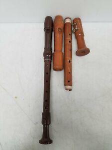 Vintage Dolmetsch Dolomite Treble & Wooden Tenor Recorder lot