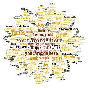 word art personalised gift present keepsake birthday christmas sunflower