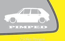 2x pimped Mk1 Golf 5 Puerta GTI 8 V CL Parachoques Contorno Adhesivo Calcomanía 55