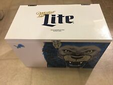 Miller Lite Detroit Lions Ice Box Metal Cooler New Limited Edition
