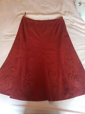 Vintage Marks And Spencer Ladies Rust Skirt size 16