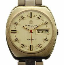 Vintage 60's FAVRE-LEUBA  Automatic Water Resistant Large  Watch with Band