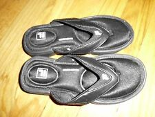 Youth Boy's/Girls Fila Soft Foot bed Black Flip Flops 12/13 Excellent Condition