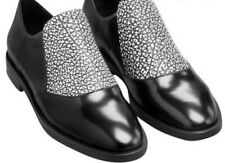 & Other Stories Black White Glazed Leather Oxford Shoes Slip On Sz 39 EU / 9 US.