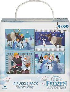 Disney Olaf's Frozen Adventure Puzzles 60 Pieces 4-Pack 240pcs total take along