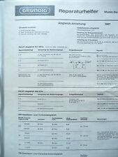 Service Manual für Grundig Music Boy 208   ,ORIGINAL
